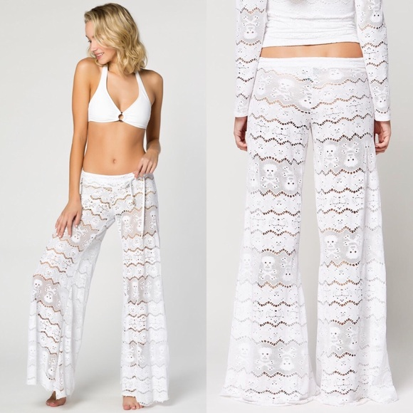 5b4a1489ac Letarte Other - Letarte | Skull Lace Pant Swim Coverup Beach White